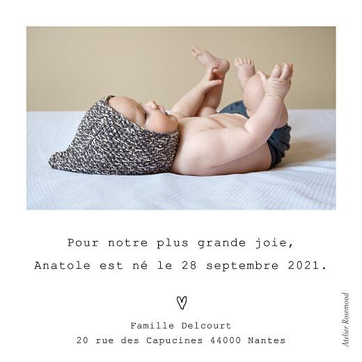 Faire-part de naissance Mon petit soulier (mini format) blanc - Page 2