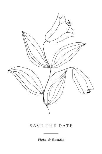 Save the Date Poésie amoureuse (petit) blanc