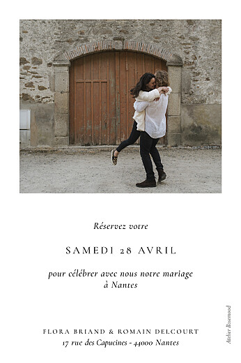 Save the Date Poésie amoureuse (petit) blanc - Page 2