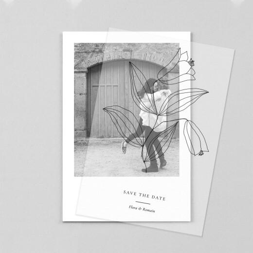 Save the Date Poésie amoureuse blanc - Vue 1