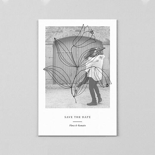 Save the Date Poésie amoureuse blanc - Vue 2