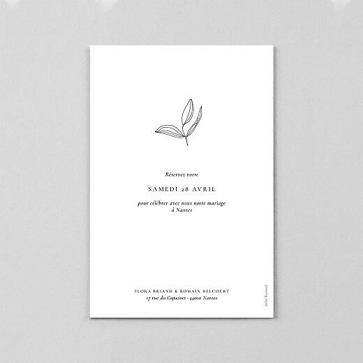 Save the Date Poésie amoureuse blanc - Vue 3