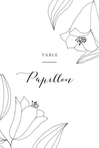 Marque-table mariage Poésie amoureuse blanc - Page 1