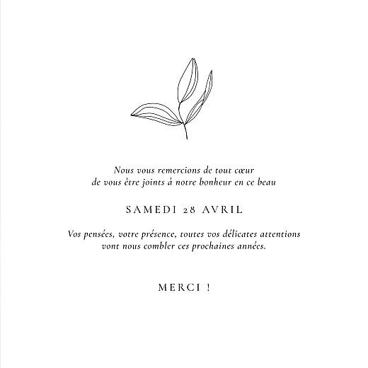 Carte de remerciement mariage Poésie amoureuse blanc - Page 3
