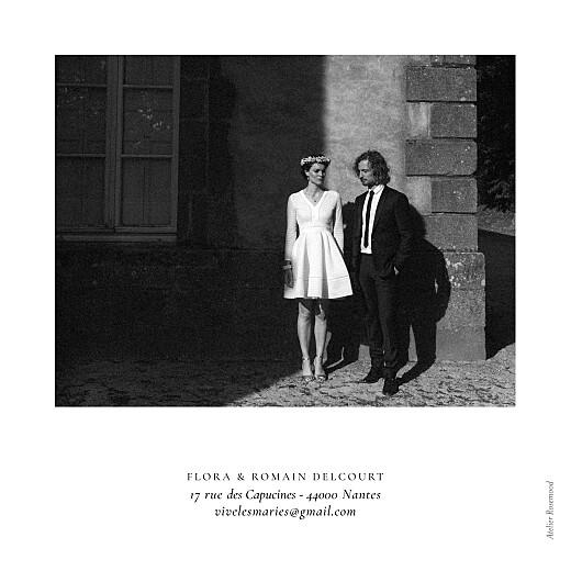 Carte de remerciement mariage Poésie amoureuse blanc - Page 4