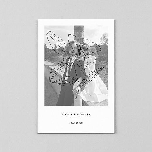 Carte de remerciement mariage Poésie amoureuse (calque) blanc - Vue 2