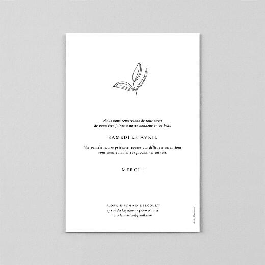 Carte de remerciement mariage Poésie amoureuse (calque) blanc - Vue 3