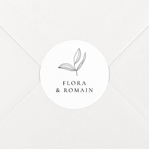 Stickers pour enveloppes mariage Poésie amoureuse blanc - Vue 2
