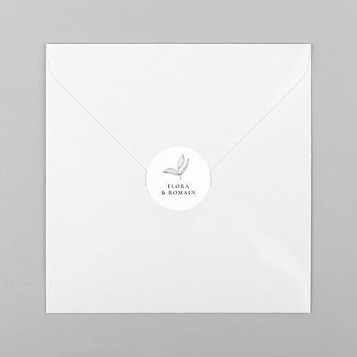 Stickers pour enveloppes mariage Poésie amoureuse blanc - Vue 1