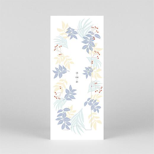 Faire-part de naissance Douce canopée (marque-page) bleu - Vue 3