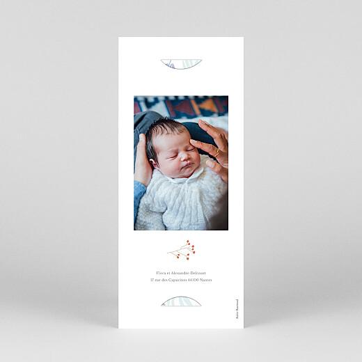 Faire-part de naissance Douce canopée (marque-page) bleu - Vue 4