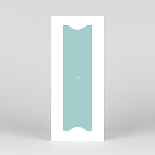 Faire-part de baptême Elégant cœur (marque-page) bleu - Vue 3