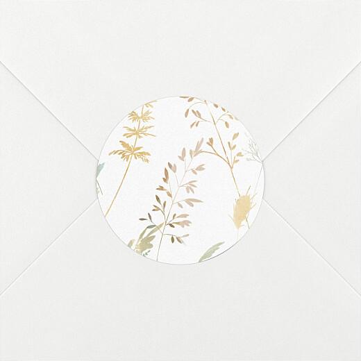 Stickers pour enveloppes baptême Les hautes herbes sable - Vue 2