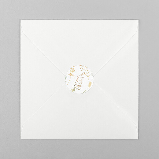 Stickers pour enveloppes baptême Les hautes herbes sable - Vue 1