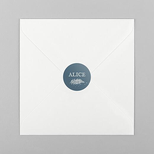 Stickers pour enveloppes baptême Gypsophile chic bleu - Vue 1