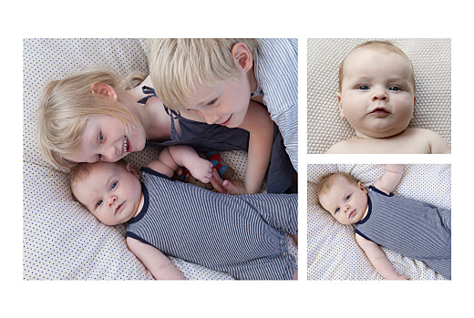 Faire-part de naissance À bicyclette (2 enfants) photos corail - Page 2
