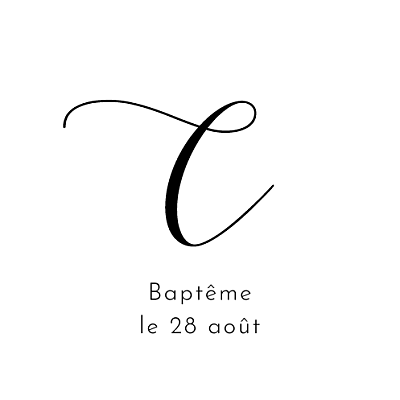 Stickers pour enveloppes baptême Tendre innocence blanc finition