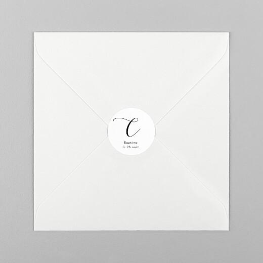 Stickers pour enveloppes baptême Tendre innocence blanc - Vue 1