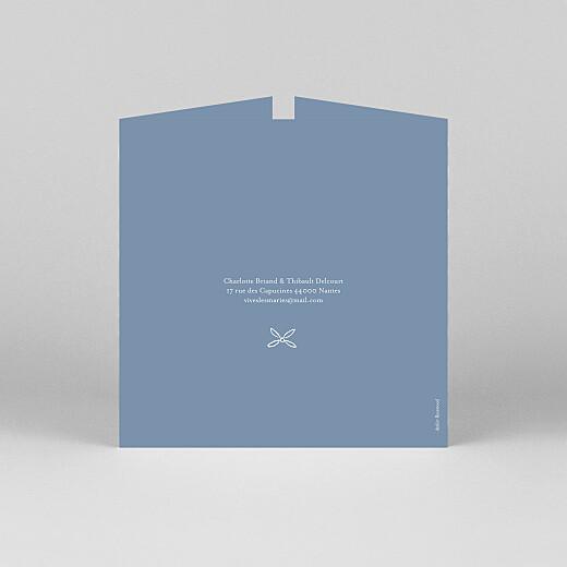 Faire-part de mariage Poème (fenêtre) bleu - Vue 3