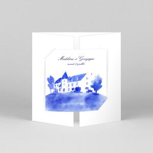 Faire-part de mariage Élégant (fenêtre) blanc