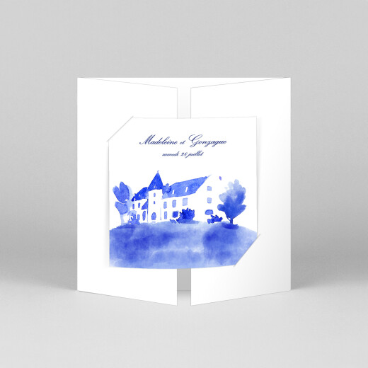 Faire-part de mariage Élégant (fenêtre) blanc - Vue 1