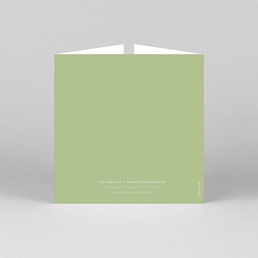 Faire-part de mariage Jardin anglais (fenêtre) vert - Vue 3