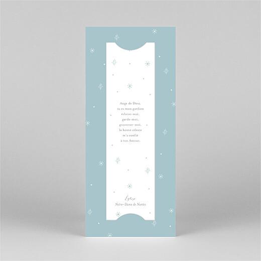 Faire-part de baptême Douce colombe (marque-page) bleu - Vue 3