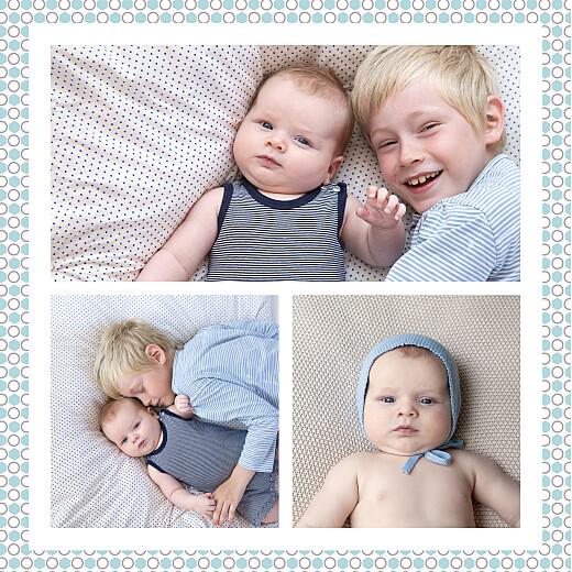 Faire-part de naissance Cambridge 3 photos bleu - Page 2