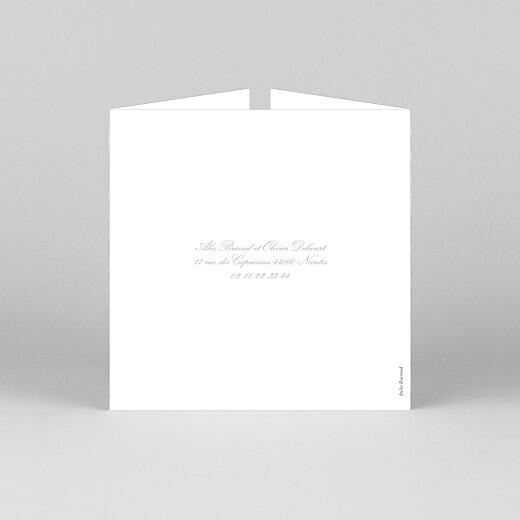 Faire-part de mariage Chic liseré (fenêtre) gris clair - Vue 3