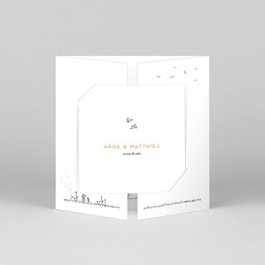 Faire-part de mariage Promesse champêtre (grande fenêtre) blanc - Vue 1