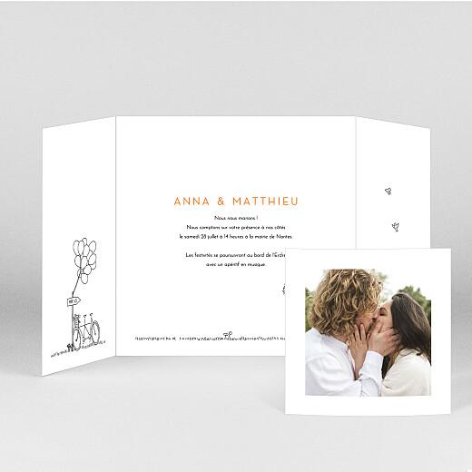 Faire-part de mariage Promesse champêtre (grande fenêtre) blanc - Vue 2
