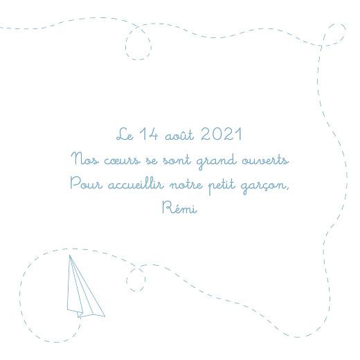 Faire-part de naissance Origami avion 5 photos bleu - Page 3