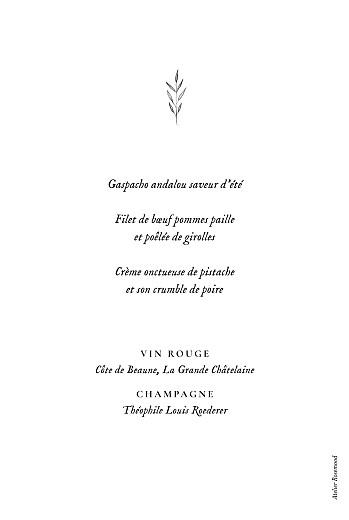 Menu de baptême Herbier vert - Page 2
