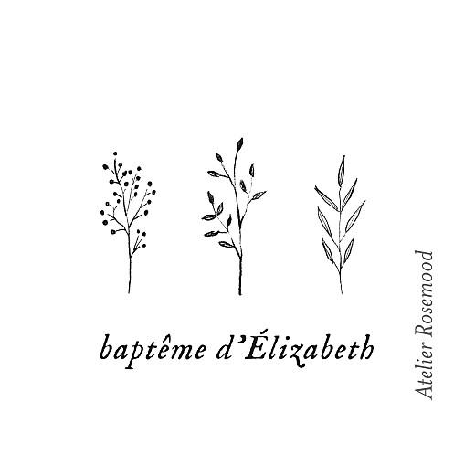 Etiquette perforée baptême Herbier vert - Page 2