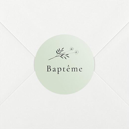Stickers pour enveloppes baptême Herbier vert - Vue 2