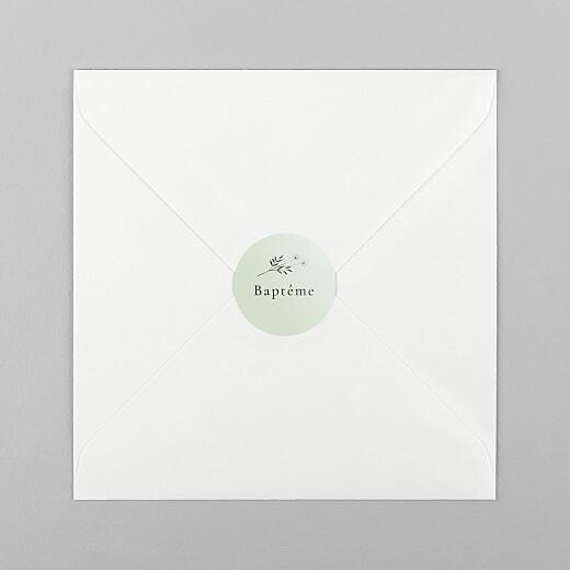 Stickers pour enveloppes baptême Herbier vert - Vue 1