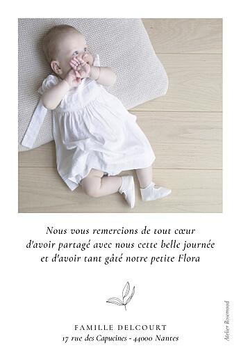 Carte de remerciement Poésie amoureuse blanc - Page 2