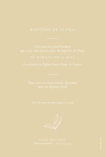 Faire-part de baptême Poésie amoureuse jaune - Page 2