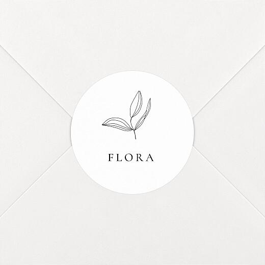 Stickers pour enveloppes baptême Poésie amoureuse blanc - Vue 2