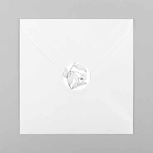 Stickers pour enveloppes baptême Poésie amoureuse blanc - Vue 1