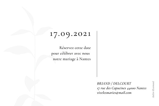 Save the Date Ikebana blanc - Page 2