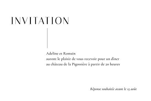 Carton d'invitation mariage Ikebana blanc - Page 2