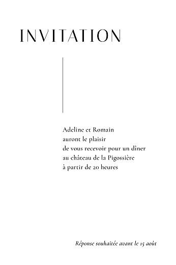 Carton d'invitation mariage Ikebana portrait blanc - Page 2