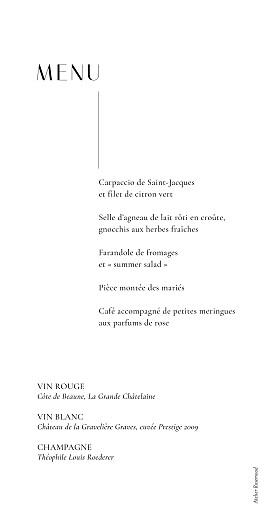 Menu de mariage Ikebana (dorure) blanc - Page 2