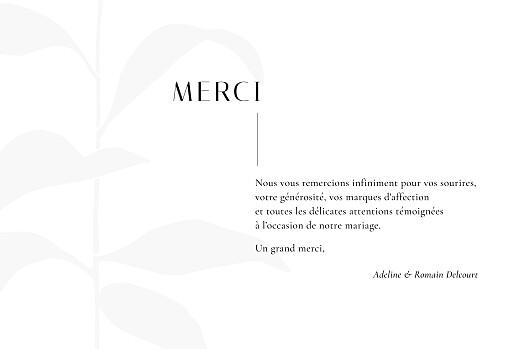 Carte de remerciement mariage Ikebana bleu - Page 3