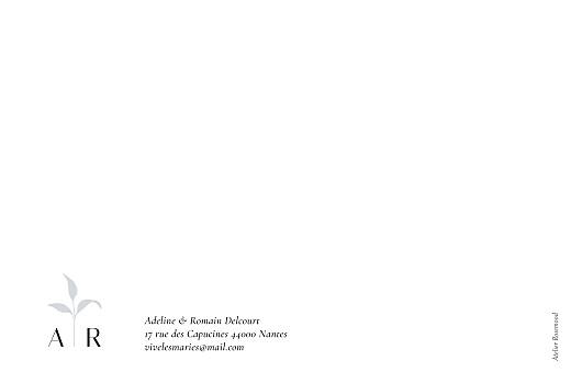 Carte de remerciement mariage Ikebana bleu - Page 4