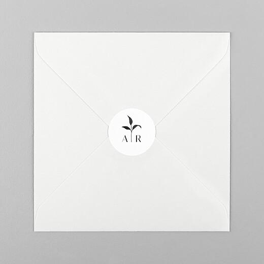 Stickers pour enveloppes mariage Ikebana blanc - Vue 1
