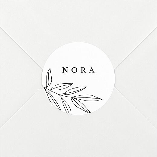 Stickers pour enveloppes baptême Jeune pousse blanc - Vue 2