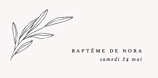 Marque-place Baptême Jeune pousse craie - Page 4