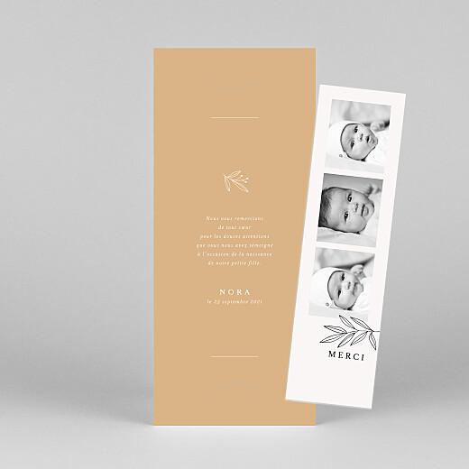 Carte de remerciement Jeune pousse (marque-page) orange - Vue 1